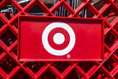 Indianapolis - Circa August 2017: Target Retail Store Baskets. Target Sells Home Goods, Clothing and Electronics XIX. Target Retail Store Baskets. Target Sells stock images