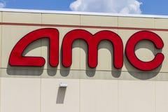 Indianapolis - Circa Augusti 2016: AMC filmbiografläge AMC teatrar är en dropp för amerikanfilmbiografkedja arkivfoto