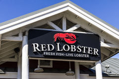 Indianapolis - Circa Februari 2017: Het rode Zeekreeft Toevallige het Dineren Restaurant, wordt Rode Zeekreeft bezeten door Golde Royalty-vrije Stock Fotografie
