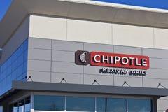 Indianapolis - Circa Februari 2016: Mexicansk gallerrestaurang V för Chipotle arkivbild