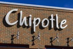 Indianapolis - Circa Februari 2017: Restaurant van de Chipotle het Mexicaanse Grill Chipotle is een Ketting van Burrito-Fast-Food Stock Afbeeldingen