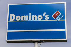 Indianapolis - Circa February 2017: Domino`s Pizza Carryout Restaurant V. Domino`s Pizza Carryout Restaurant. Domino`s is 97% franchise-owned with 840 Stock Image