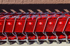 Indianapolis - Circa February 2017: Target Retail Store Baskets. Target Sells Home Goods, Clothing and Electronics XI Royalty Free Stock Photography