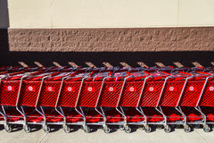 Indianapolis - Circa February 2017: Target Retail Store Baskets. Target Sells Home Goods, Clothing and Electronics XII. Target Retail Store Baskets. Target Sells Stock Photos