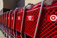 Indianapolis - Circa February 2017: Target Retail Store Baskets. Target Sells Home Goods, Clothing and Electronics XIII Stock Image