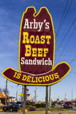 Indianapolis - Circa February 2017: Arby`s Retail Fast Food Location. Arby`s operates over 3,300 restaurants IV Stock Photos