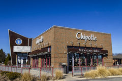 Indianapolis - Circa February 2017: Chipotle Mexican Grill Restaurant. Chipotle is a Chain of Burrito Fast-Food Restaurants IX Royalty Free Stock Image