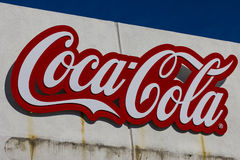 Indianapolis - Circa February 2017: Coca Cola Signage and Logo at IMS. Coke products are among the best selling soft drinks XI Royalty Free Stock Photo