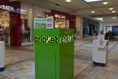 Indianapolis - Circa February 2016: Cricket Wireless Kiosk. Stock Images