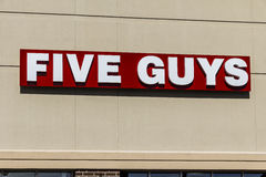 Indianapolis - Circa February 2017: Five Guys Restaurant. Five Guys is a Fast Casual Restaurant Chain in the US and Canada V Stock Photos