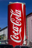 Indianapolis - Circa February 2017: Giant Can of Coca Cola adorns a Bottling Plant XIV Stock Photos