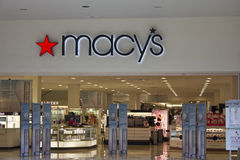Indianapolis - Circa February 2016: Macy's Department Store. Macy's, Inc. is one of the Nation's Premier Omnichannel Retailers I Royalty Free Stock Image