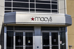 Indianapolis - Circa February 2017: Macy's Department Store. Macy's, Inc. is the Nation's Premier Omnichannel Retailers V Stock Images