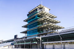 Indianapolis - Circa February 2017: The Panasonic Pagoda at Indianapolis Motor Speedway IX stock image