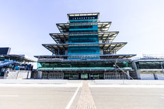 Indianapolis - Circa February 2017: The Panasonic Pagoda at Indianapolis Motor Speedway XI stock image