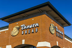 Indianapolis - Circa February 2017: Panera Bread Retail Location. Panera is a Chain of Fast Casual Restaurants VIII Royalty Free Stock Image