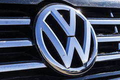 Indianapolis - Circa February 2017: Volkswagen Cars and SUV logo. VW is Among the World`s Largest Car Manufacturers VI. Volkswagen Cars and SUV logo. VW is Among Stock Images