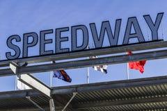Indianapolis - circa im Februar 2017: Eingang des Flugsteig-einer in Indianapolis Motor Speedway V Lizenzfreie Stockbilder