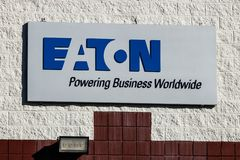 Indianapolis - Circa Januari 2019: Het Centrum van de Eatonlogistiek Het Eatonbedrijf is een multinationaal energiebeheer I stock fotografie