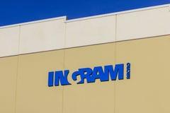 Indianapolis: Circa Januari 2017: Ingram Micro grossistlager Ingram Micro återförsäljer IT-produkter I Royaltyfri Bild