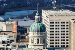Indianapolis - Circa January 2019: Indiana State House and Capitol Dome. It houses the Governor, Assembly and Supreme Court II stock photo