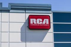 Indianapolis - Circa Juli 2017: Commercieel de Elektronikabureau van RCA Van de Elektronikaontwerpen van RCA Commerciële Televisi Stock Afbeeldingen