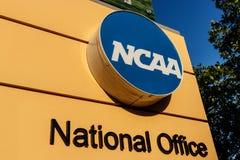 Indianapolis - Circa Juli 2018: Nationella högkvarter för college- idrotts- anslutning Ncaaen reglerar högskolafriidrott III fotografering för bildbyråer