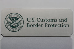 Indianapolis - Circa July 2017: Customs and Border Protection Revenue Division I. U.S. Customs and Border Protection Revenue Division. CBP is a federal law Royalty Free Stock Photos