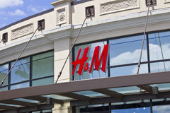 Indianapolis - Circa July 2016: H&M Retail Mall Location. H&M is an international clothing company II Stock Photos