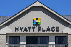 Indianapolis - Circa July 2017: Hyatt Place Business Hotel. Hyatt properties include hotels and vacation resorts IV. Hyatt Place Business Hotel. Hyatt properties stock image