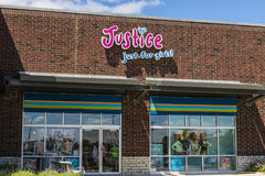Indianapolis - Circa July 2017: Justice Just for Girls! Retail Strip Mall Location II. Justice Just for Girls! Retail Strip Mall Location. Justice branded Royalty Free Stock Photos