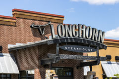 Indianapolis - Circa July 2017: LongHorn Steakhouse casual dining restaurant. LongHorn Steakhouse is owned and operated by DRI II Stock Photo