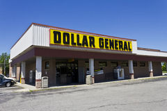 Indianapolis - Circa June 2016: Dollar General Retail Location V. Dollar General Retail Location. Dollar General is a Small-Box Discount Retailer V Stock Image
