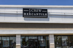 Indianapolis - Circa June 2017: J.Crew Retail Strip Mall Location. Same-store sales have been down at JCrew II royalty free stock image