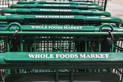 Indianapolis - circa luglio 2017: Mercato di Whole Foods Amazon ha annunciato un accordo comprare Whole Foods per $13 7 miliardo  Fotografie Stock