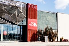 Indianapolis - Circa Maart 2019: De kleinhandels de wandelgalerijplaats van het het Noordengezicht Het het Noordengezicht wordt b stock fotografie