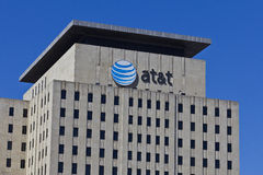 Indianapolis - Circa Maart 2016: AT&T Indiana Headquarters VI Stock Afbeelding