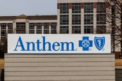 Indianapolis: Circa March 2019: Anthem World Headquarters. Anthem is a Trusted Health Insurance Plan Provider I. Anthem World Headquarters. Anthem is a Trusted stock images