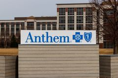 Indianapolis: Circa March 2019: Anthem World Headquarters. Anthem is a Trusted Health Insurance Plan Provider II. Anthem World Headquarters. Anthem is a Trusted royalty free stock photo