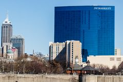 Indianapolis - Circa March 2018: Downtown JW Marriott Hotel. The JW Marriott is a Worldwide Chain of Luxury Hotels II. Downtown JW Marriott Hotel. The JW royalty free stock image