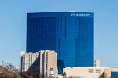Indianapolis - Circa March 2018: Downtown JW Marriott Hotel. The JW Marriott is a Worldwide Chain of Luxury Hotels I. Downtown JW Marriott Hotel. The JW Marriott stock photo