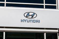 Indianapolis - Circa March 2018: Hyundai Motor Company Dealership. Hyundai is a South Korean Automotive Manufacturer III. Hyundai Motor Company Dealership Royalty Free Stock Images