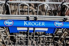 Indianapolis - Circa March 2018: Kroger Supermarket. The Kroger Co. is One of the World`s Largest Grocery Retailers II. Kroger Supermarket. The Kroger Co. is One Royalty Free Stock Photography