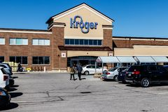Indianapolis - Circa March 2018: Kroger Supermarket. The Kroger Co. is One of the World`s Largest Grocery Retailers III. Kroger Supermarket. The Kroger Co. is Stock Photos