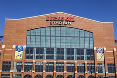 Indianapolis - Circa March 2017: Lucas Oil Stadium. Lucas Oil is a Sponsor of the Indianapolis Colts III Stock Photos