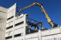Indianapolis - Circa March 2017: RCA Manufacturing Factory being razed as part of the Demolition and Blight Reduction Project II. Former RCA Manufacturing Stock Images