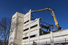 Indianapolis - Circa March 2017: RCA Manufacturing Factory being razed as part of the Demolition and Blight Reduction Project III. Former RCA Manufacturing Stock Photos