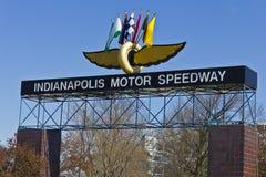 Indianapolis - Circa mars 2016: Indianapolis Motor Speedway dropp Arkivbild