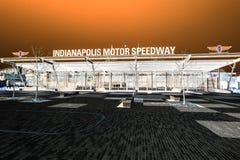 Indianapolis - Circa mars 2018: Ingång för Indianapolis Motor Speedway port 1 IMS är värd Indyen 500 V Arkivfoton