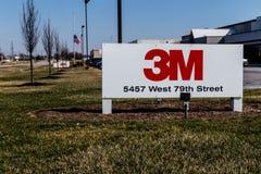 Indianapolis - Circa mars 2018: 3M IDA Office 3M är ett globalt vetenskapsföretag och producerar mer än 55.000 produkter I Royaltyfri Bild